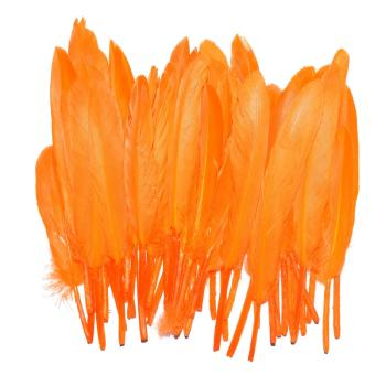 Lot de 50 Plumes à Chignon: Orange
