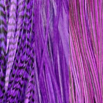 Trio Plumes Purple