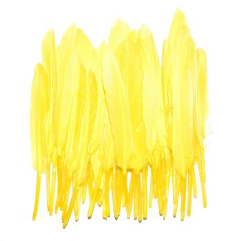 Lot de 50 Plumes à Chignon: Yellow