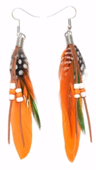 Paire de Boucles Yuma Coloris Orange